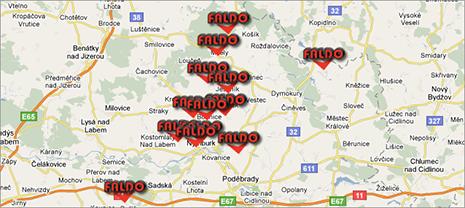 Faldo - mapa